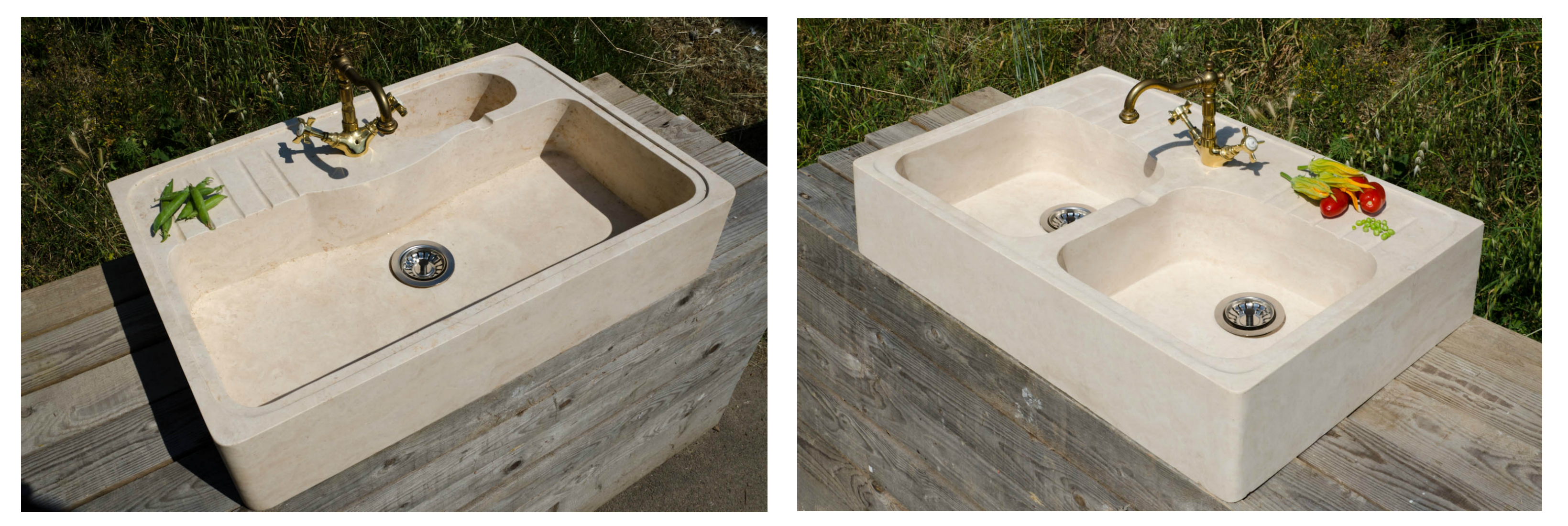 Il nostro lavabo in travertino Loaded su Homify - Pietre di Rapolano