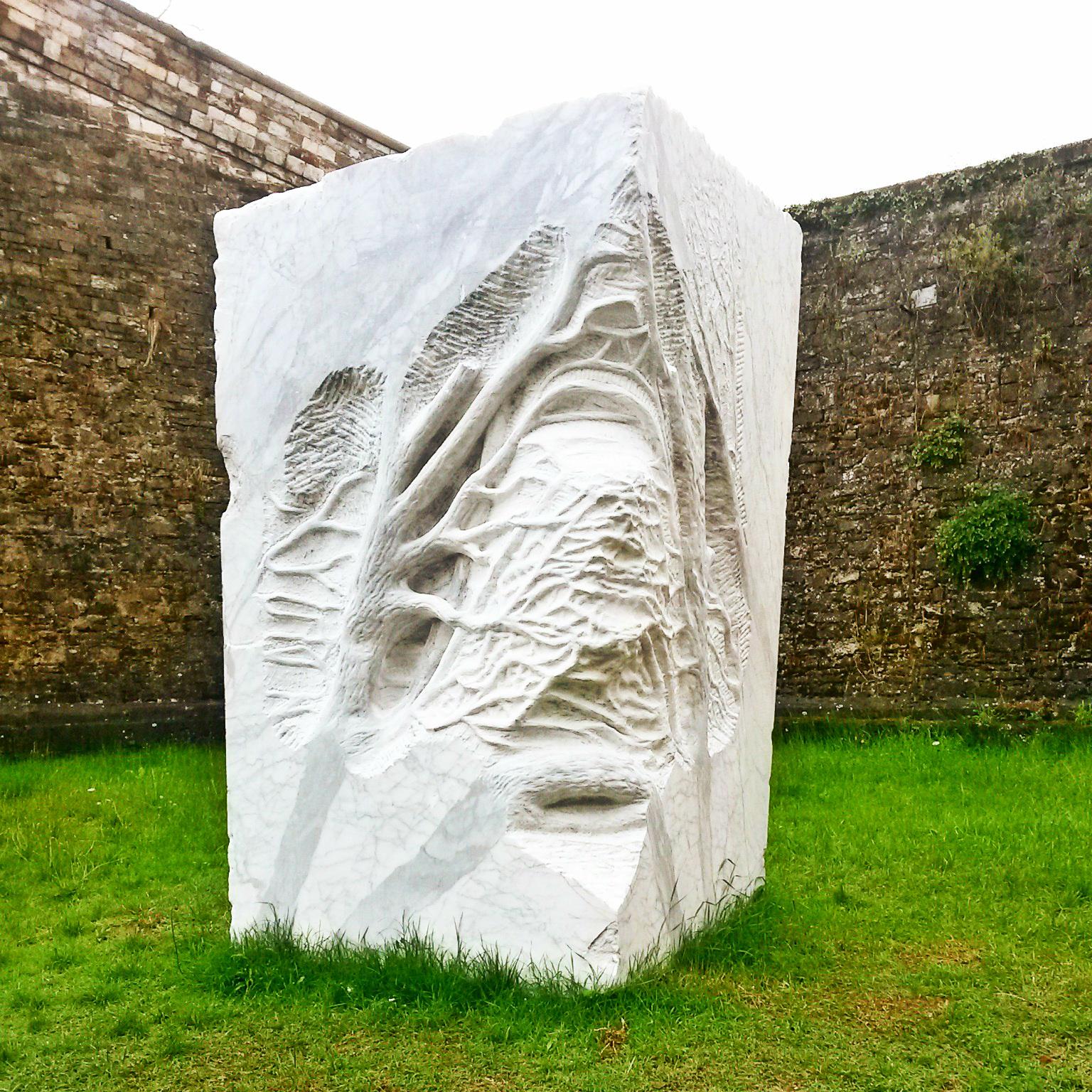 Pietre di rapolano marmo scultura giuseppe penone prospettiva vegetale forte belvedere