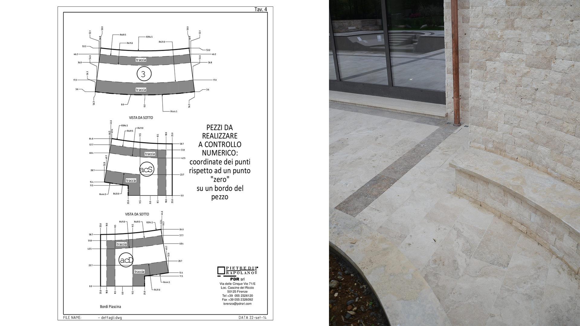 Rivestimento In Pietra Dwg : Projekte schwimmbad und außenbereiche aus travertin pietre di