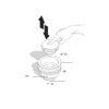 """Ablaufventil für Küchenspülen """"Up&Down""""."""