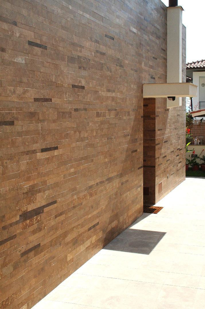 Fassade Mit Naturstein Verkleiden Travertin Pietre Di Rapolano