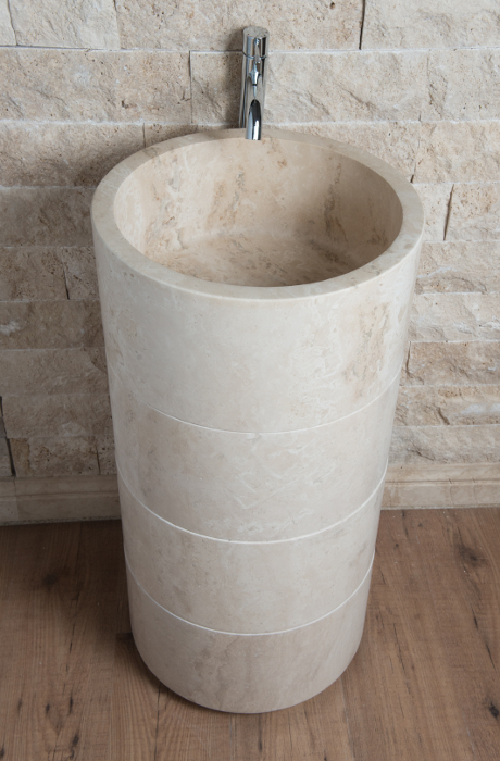 Lavabo a colonna in pietra naturale