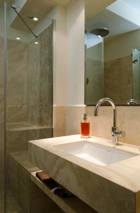Piani lavabo bagno in pietra pietre di rapolano - Bagno travertino ...