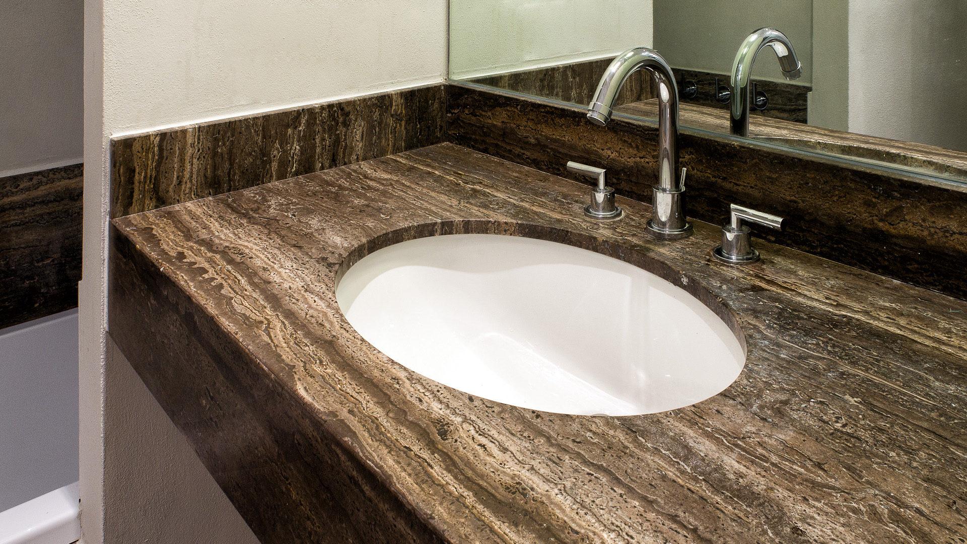 Piano Per Lavabo Da Appoggio piani lavabo bagno in pietra - pietre di rapolano