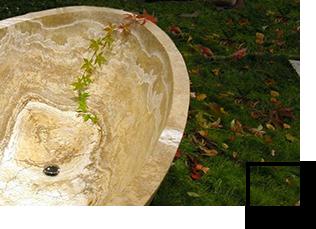 Vasca da bagno in pietra naturale