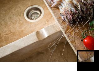 Natural stone kitchen sinks