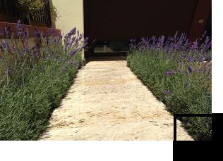 External stone floor tiles