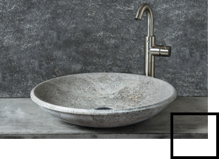 Batrhroom sinks in travertine