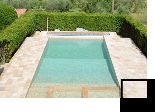 Pavimentazioni piscine in pietra di Rapolano