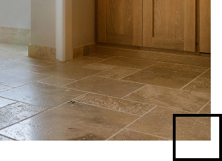 Travertine floor