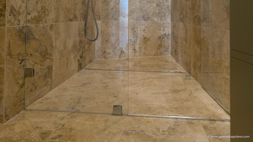 Piatti doccia bagno travertino pietre di rapolano
