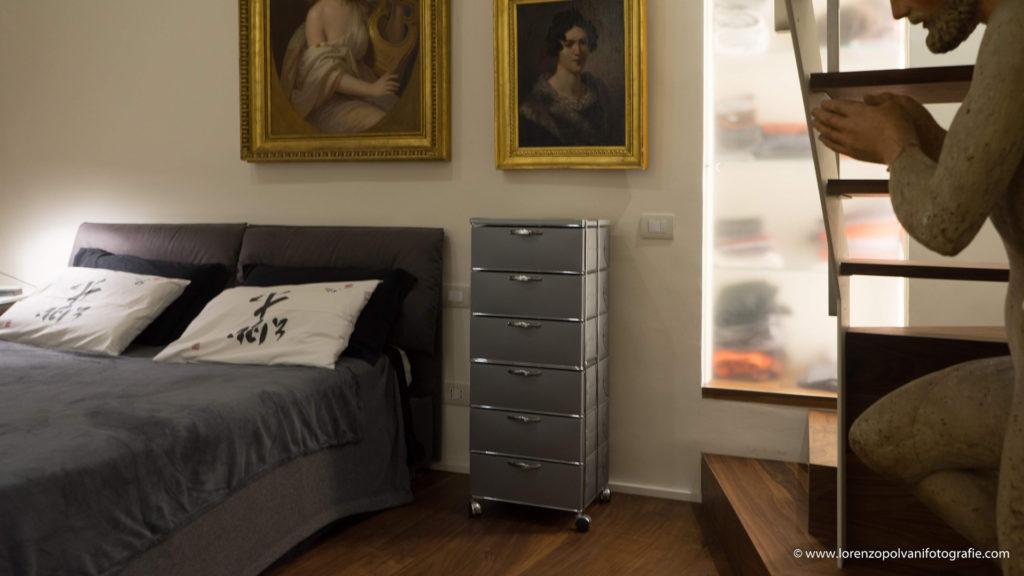 Residenza privata di un antiquario - camera da letto