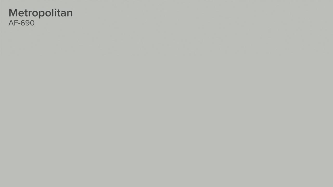 Benjamin moore metropolitan grey color of the year