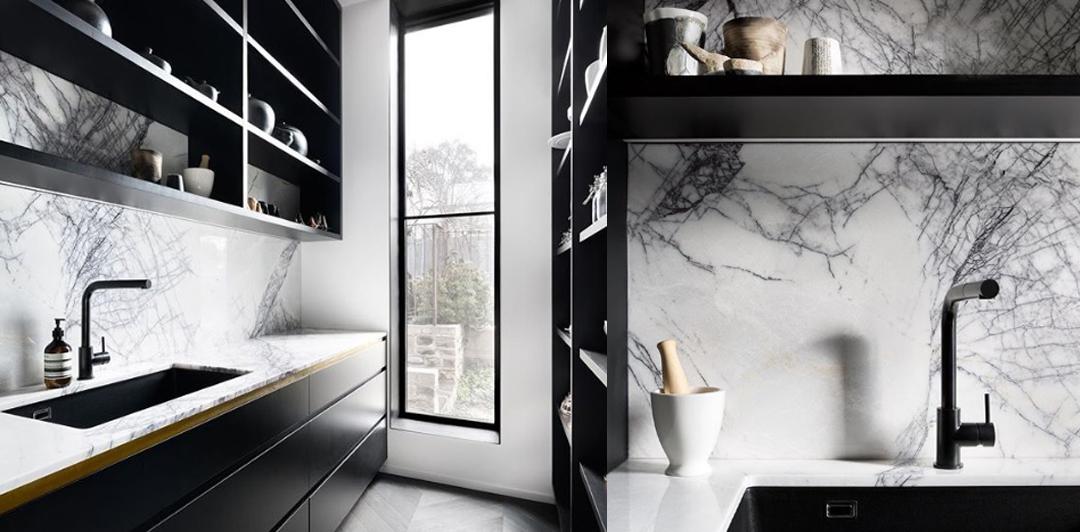 marmo in diversi ambienti