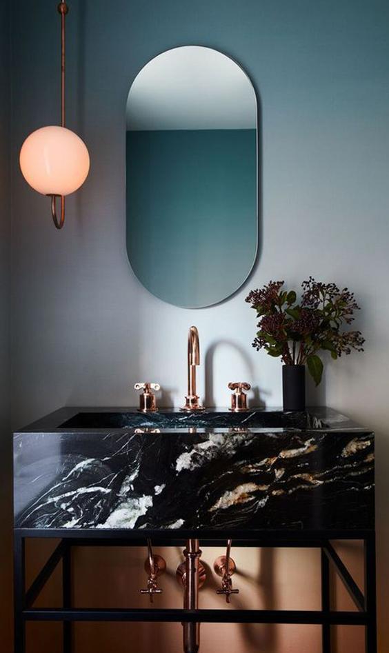 Interno casa marmo nero