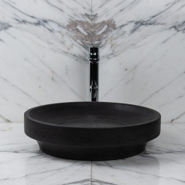 Lavabo bagno nero in basalto ufo black x