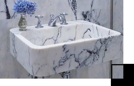 Piani lavabo bagno in marmo