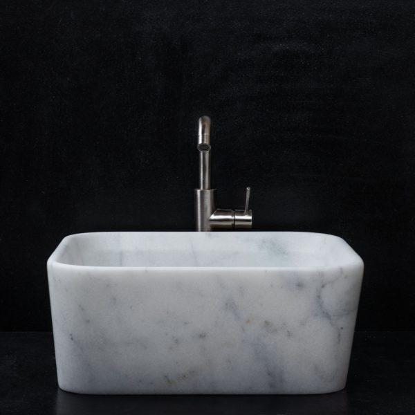 """Lavabo quadrato marmo """"Square Carrara T"""""""