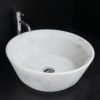 "Lavabo tondo in marmo bianco ""Simple CT"""