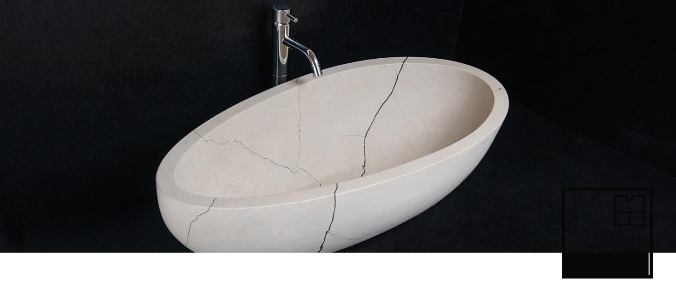 Pietre di Rapolano lavabi bagno in marmo
