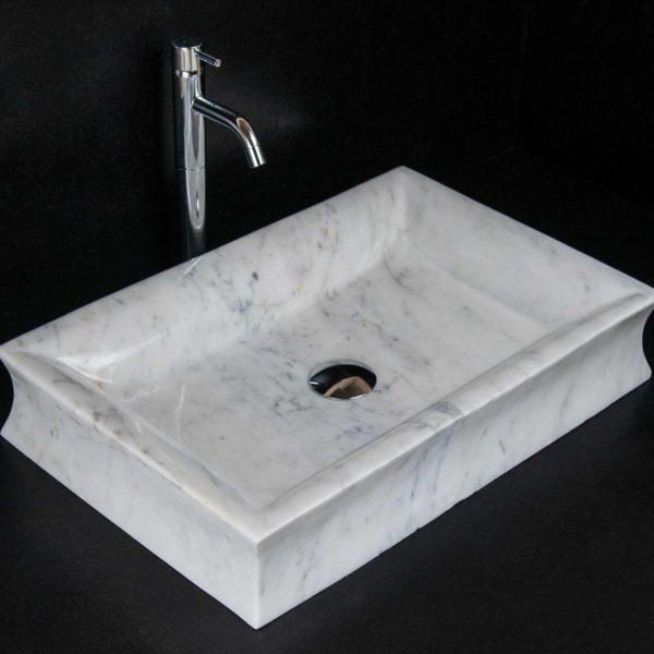 """Rechteckiges Waschbecken aus Marmor """"Pillow"""""""