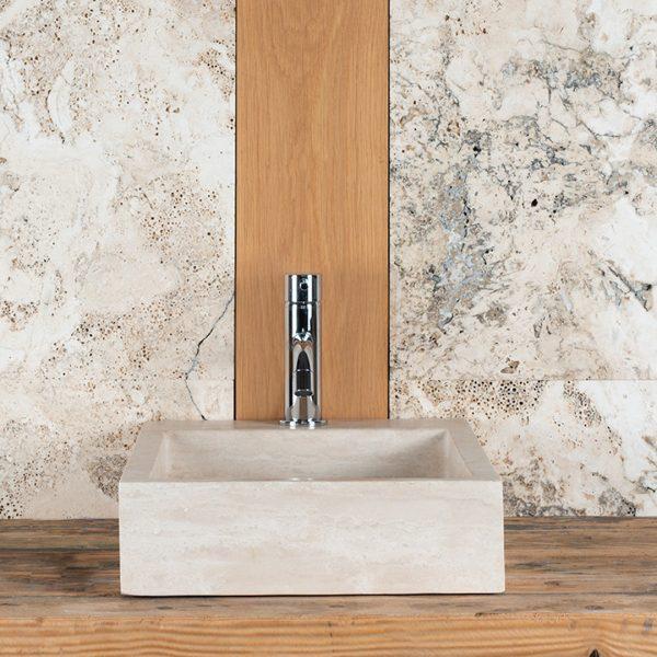 SIDE CH travertine washbasin