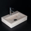 "Lavabo piccolo in travertino ""Back CH"""