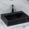 "Lavabo piccolo in marmo nero ""Back Black"""