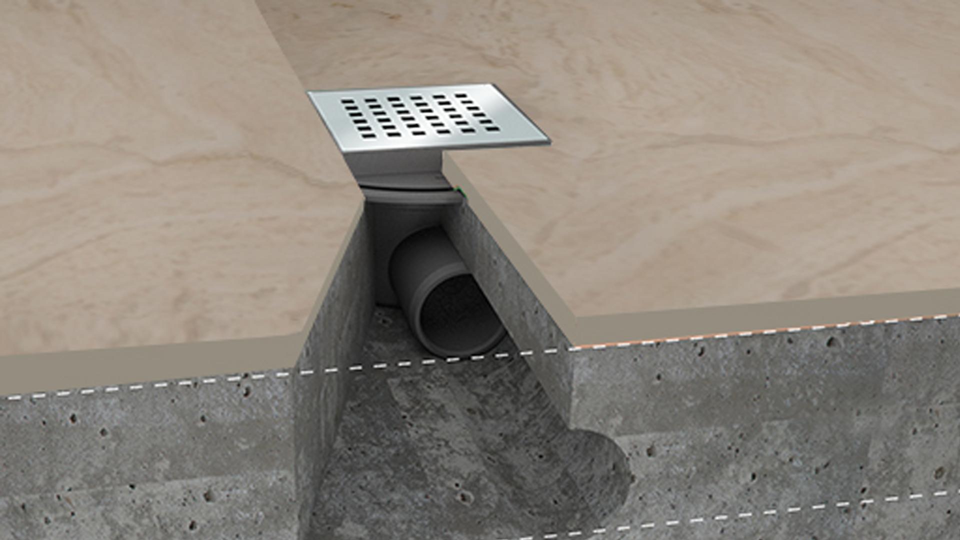 Piletta Doccia A Pavimento.Piletta Per Doccia Quadrata 11x11 Pietre Di Rapolano