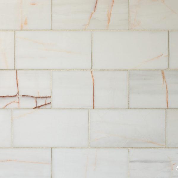 "Piastrelle ""Bianco Alba 7.5x15x1"" Lucido"