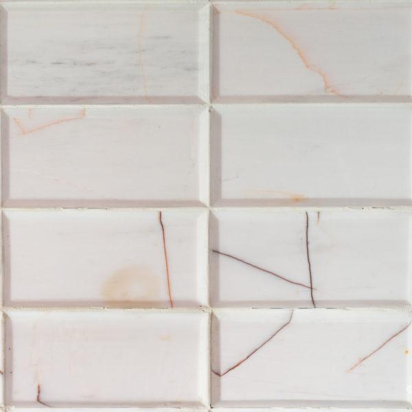 """Piastrelle """"Bianco Alba 7.5x15x1"""" Lucido / Diamantato"""