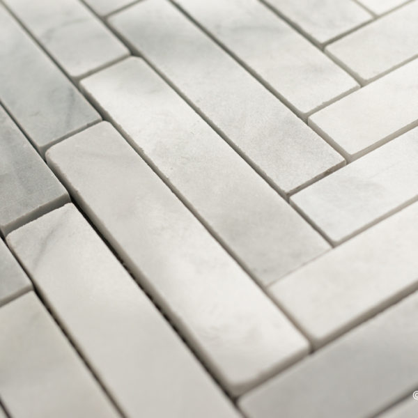 "Mosaico in marmo bianco  ""Spina Grande"" Lucido"