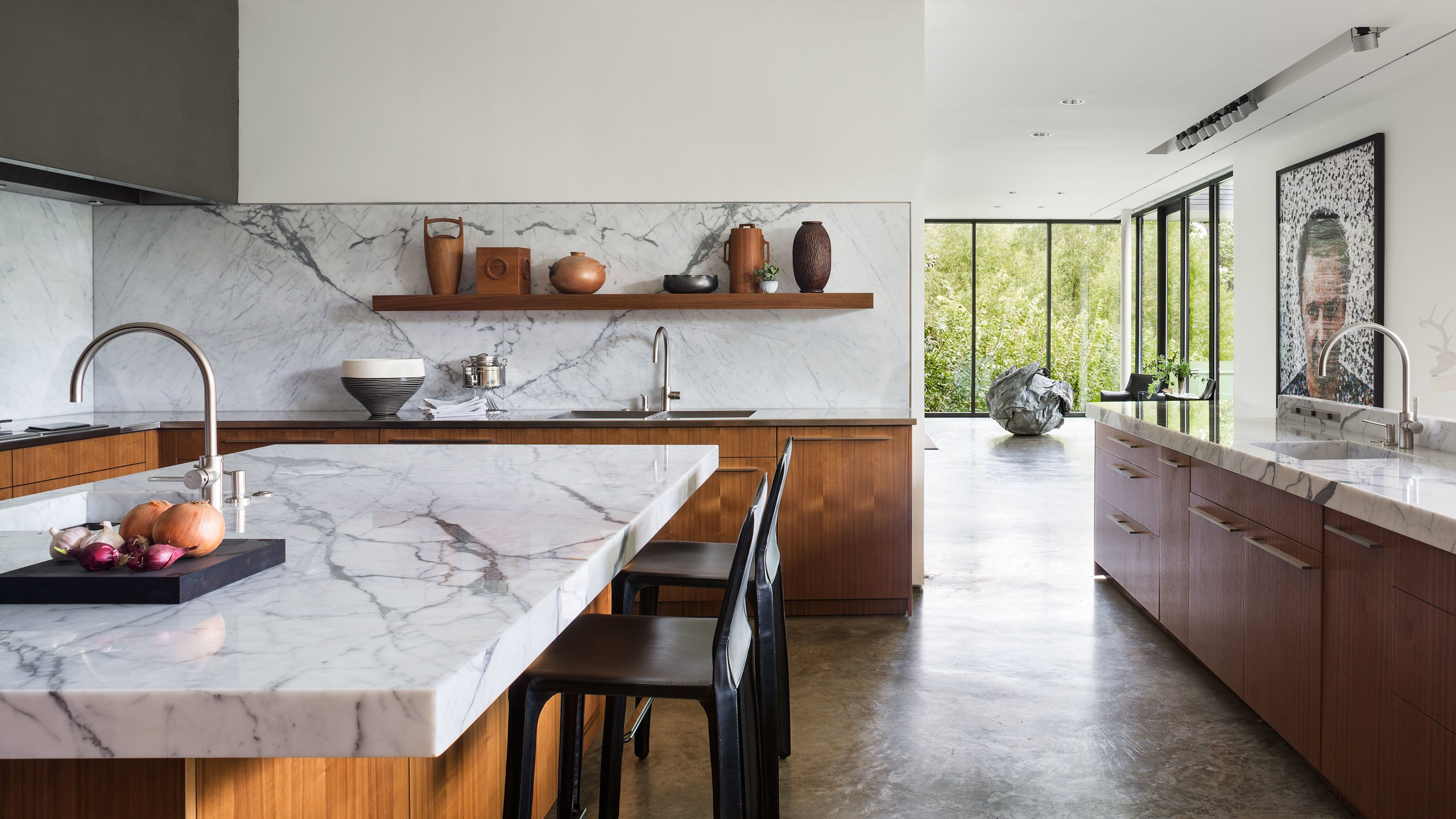 marmo in cucina tendenze interior 2020