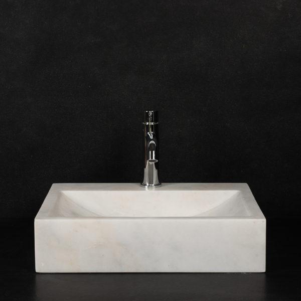 """Lavabo piccolo in marmo Bianco CT """"Back"""""""