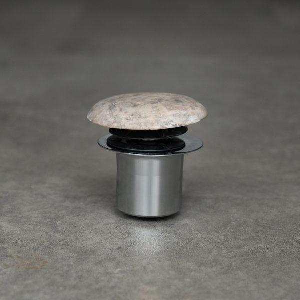Piletta in travertino grigio per lavabo da bagno