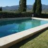 "Bordi piscina in Travertino in falda ""Light Blend"" / costa a toro"