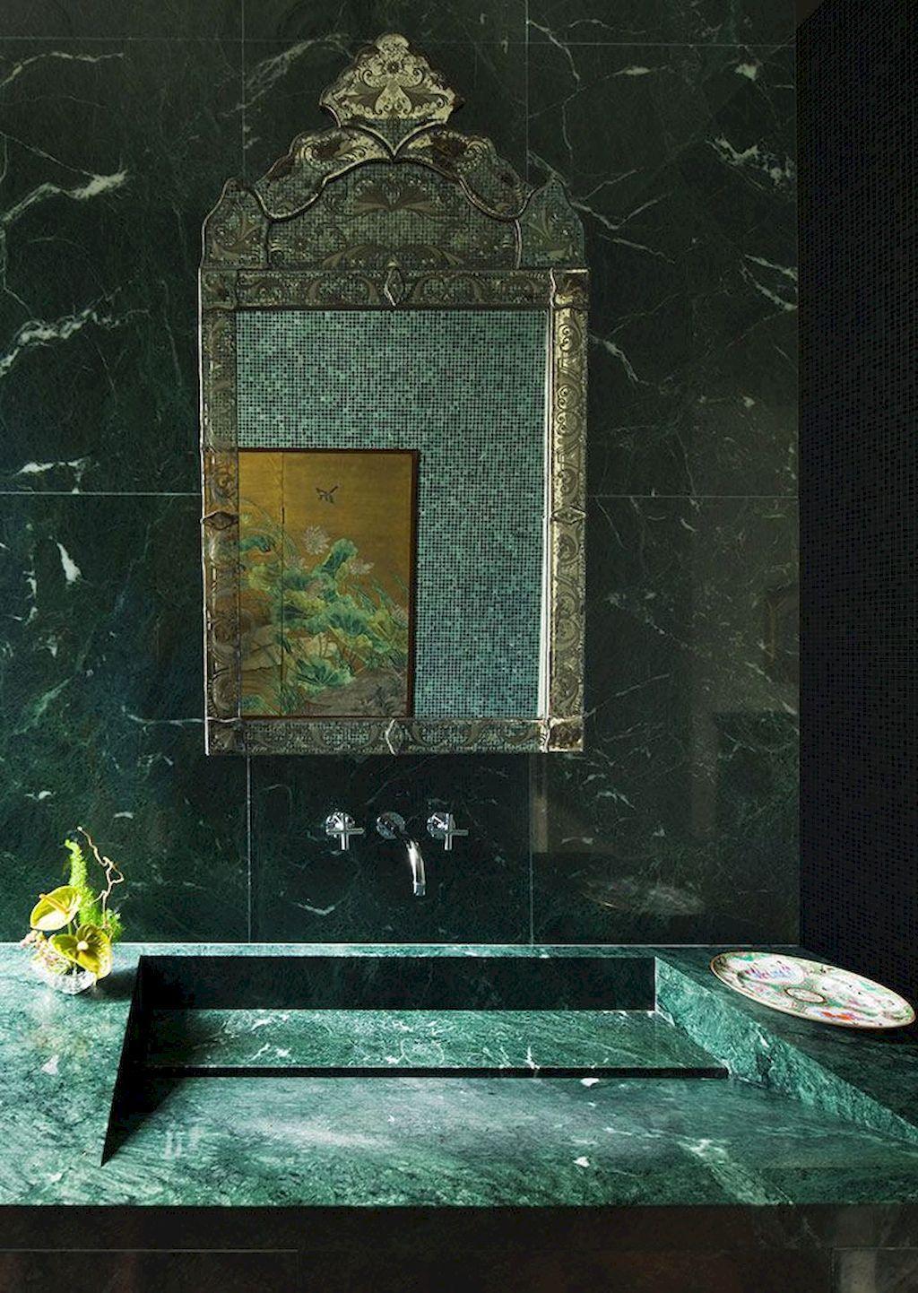 Marmo verde in bagno