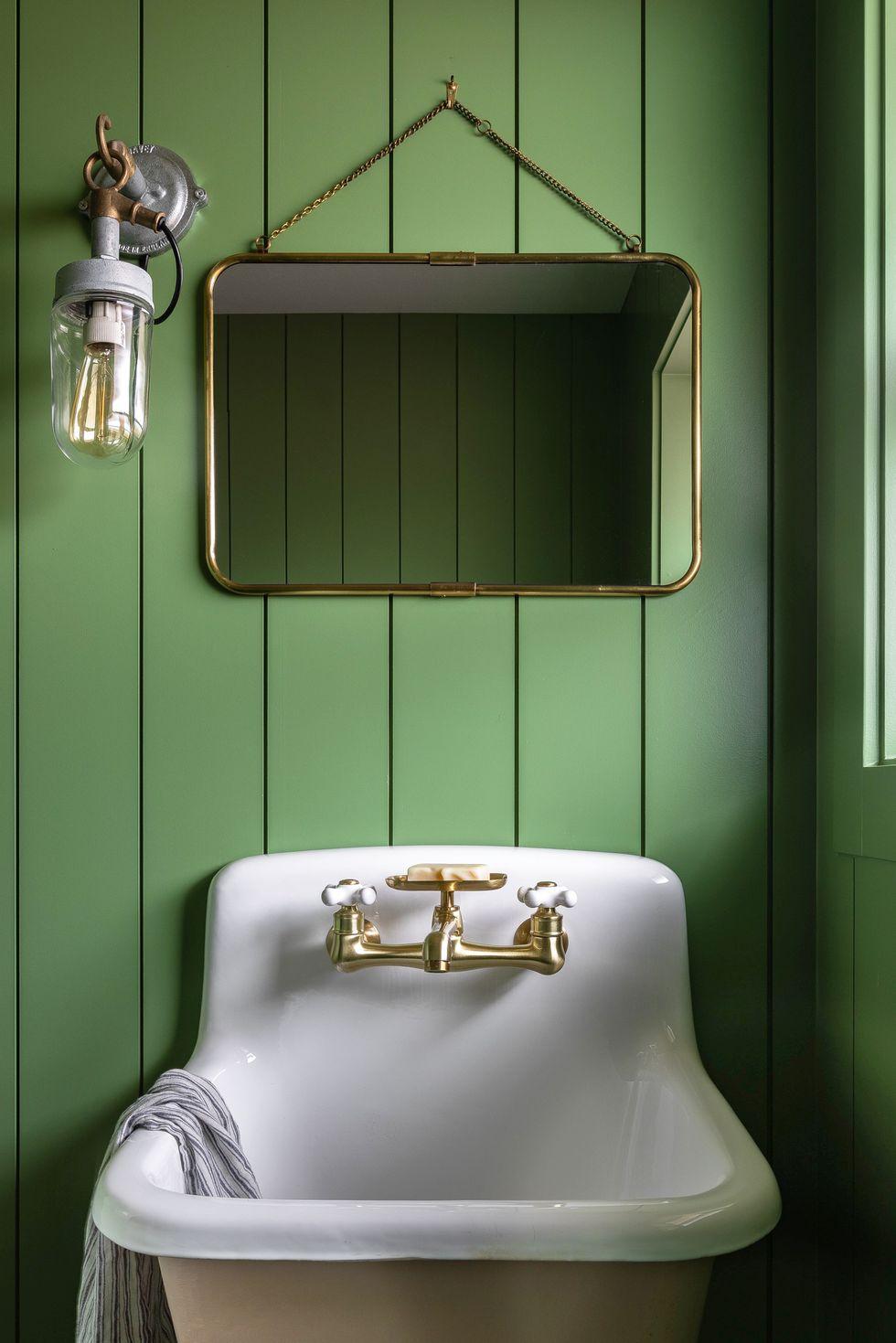 Arredamento rustico moderno in bagno