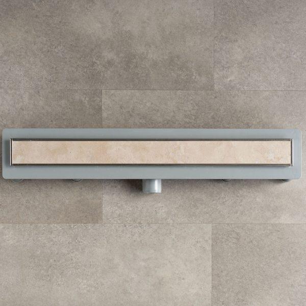 Canalina per doccia a pavimento in ABS con impermeabilizzazione a letto sottile
