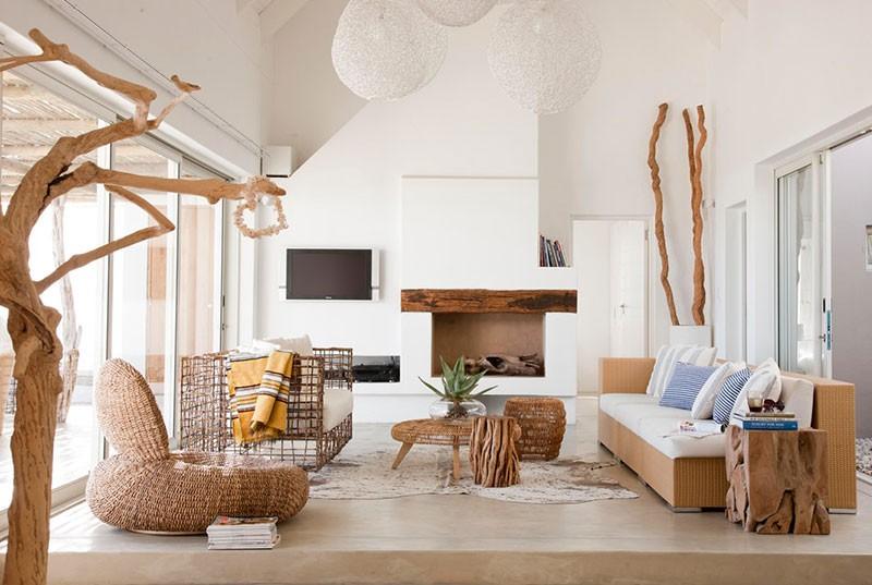 Arredamento casa mare utilizzo del legno