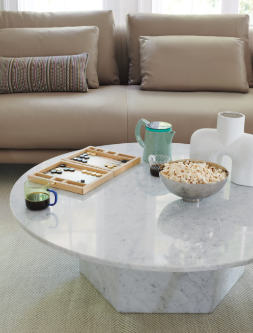 Tavolino caffe marmo pietre di rapolano