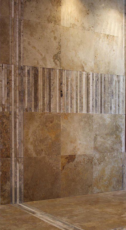 Bagno con mosaico in pietra di rapolano
