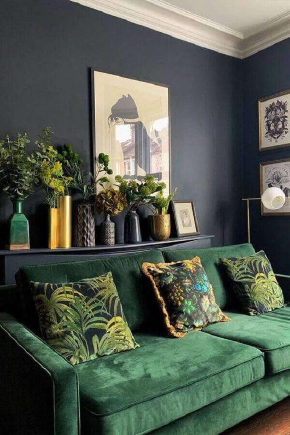 salotto con divano velluto