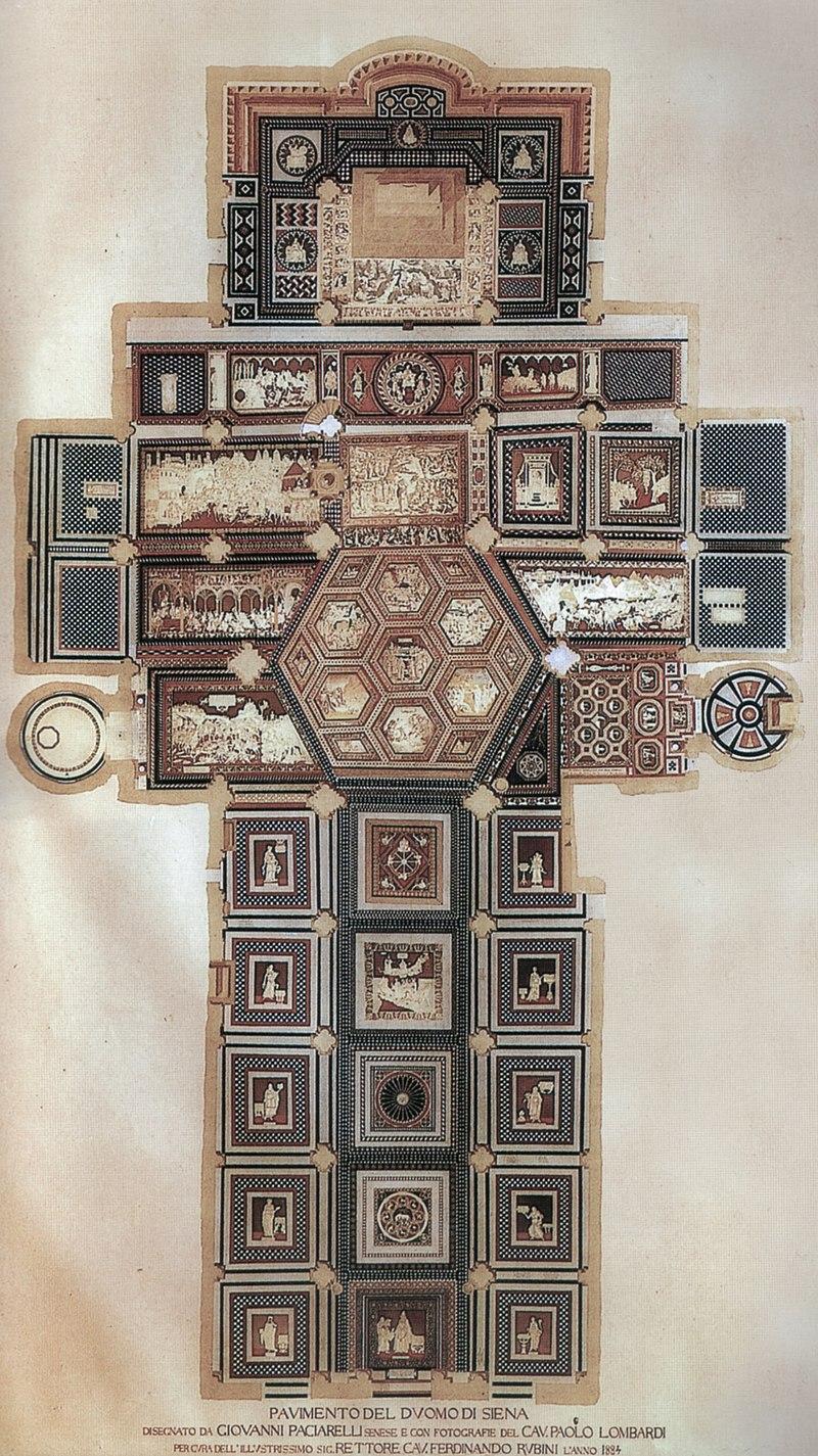Giovanni paciarelli schema del pavimento del duomo di siena